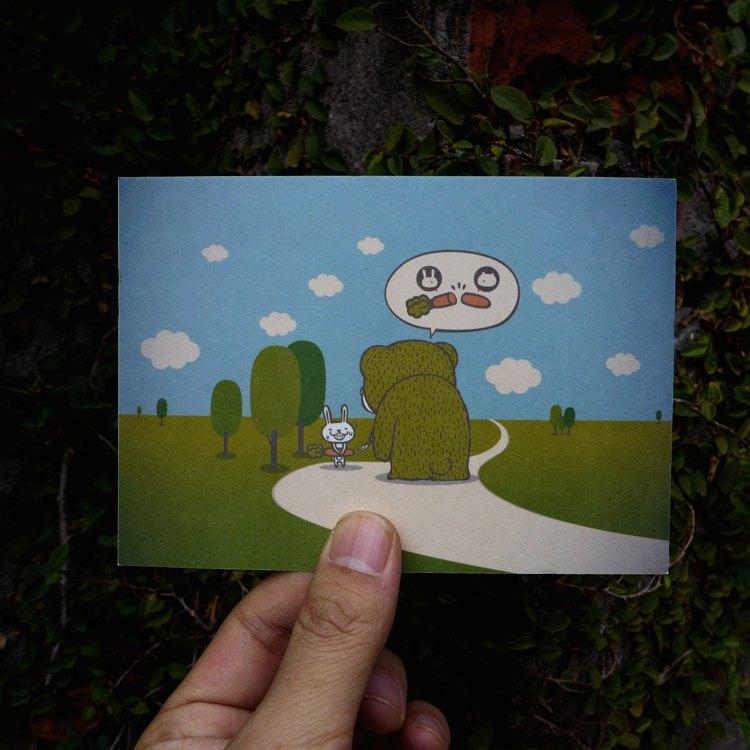 設計明信片|搶劫熊