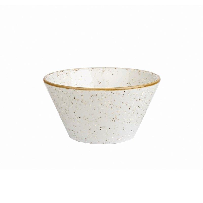 STONECAST點藏系列米白色-12×6.5cm點心錐形碗
