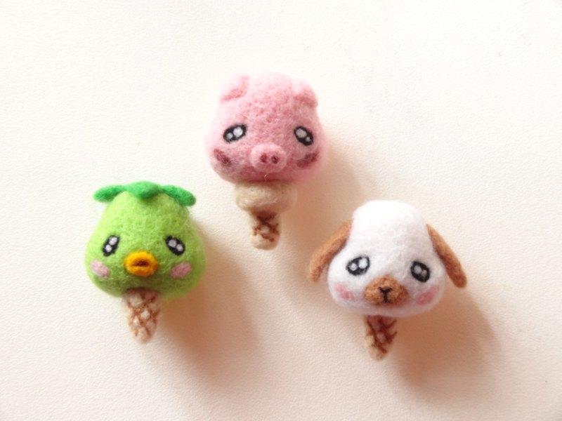小動物們的冰淇淋甜筒派對