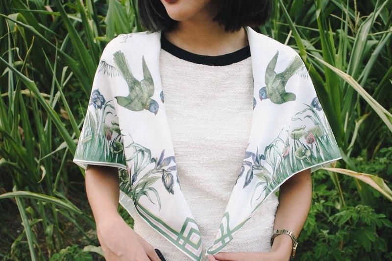 floresta 絲巾 (白色)