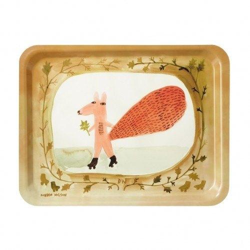 Skating Squirrel 手繪拖盤 | Donna Wilson