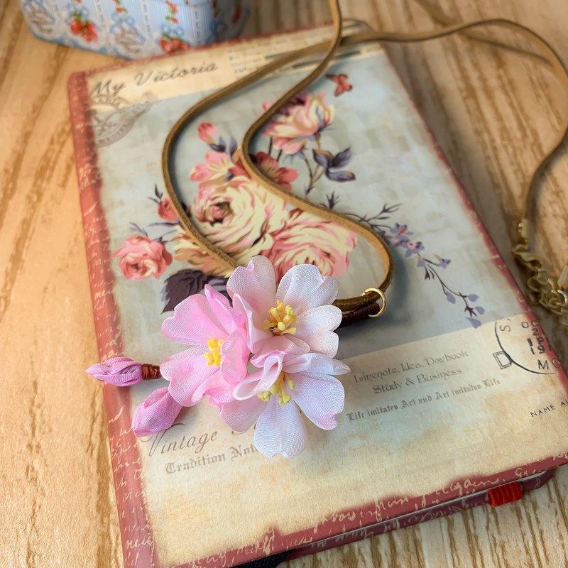 (櫻さくら) 細工布花 小櫻花團頸鍊 つまみ細工