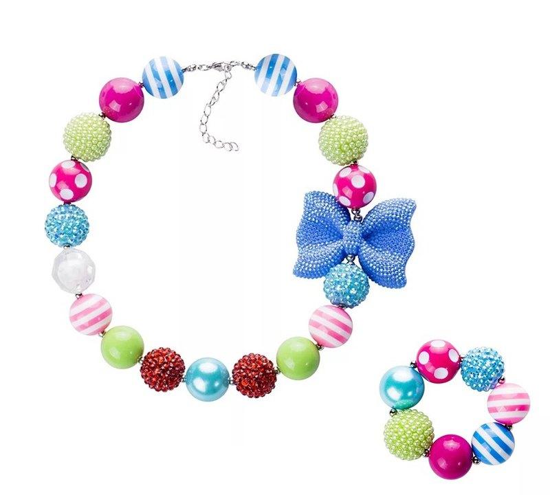 Cutie Bella兒童首飾項鍊手鍊套裝 Chunky Necklace bracelet set