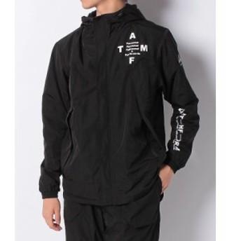 【セール】 アスフォーム ランニング メンズウェア 裏トリコットマウンテンパーカー AF-F19-008-035 メンズ ブラック