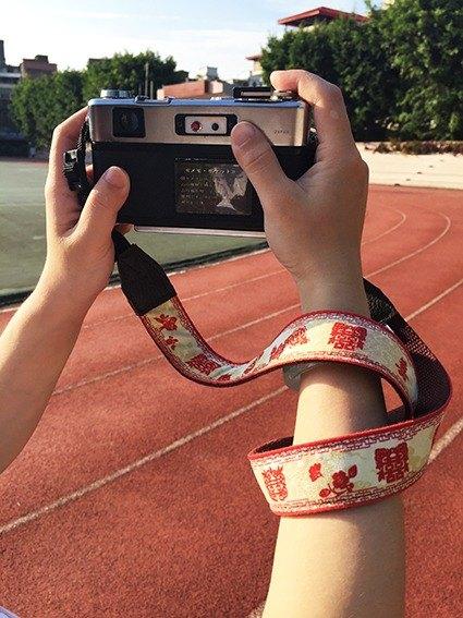相機揹帶-紅囍