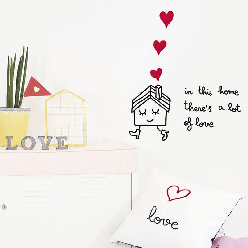 手繪壁貼 愛心滿屋