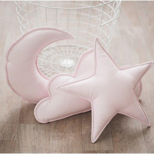 3件套!粉紅枕套雲星月形枕,育兒室裝飾,兒童坐墊