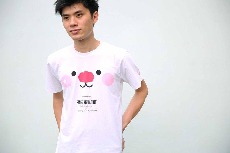 星星兔Sing Sing Rabbit3週年限量版 White Face Tee