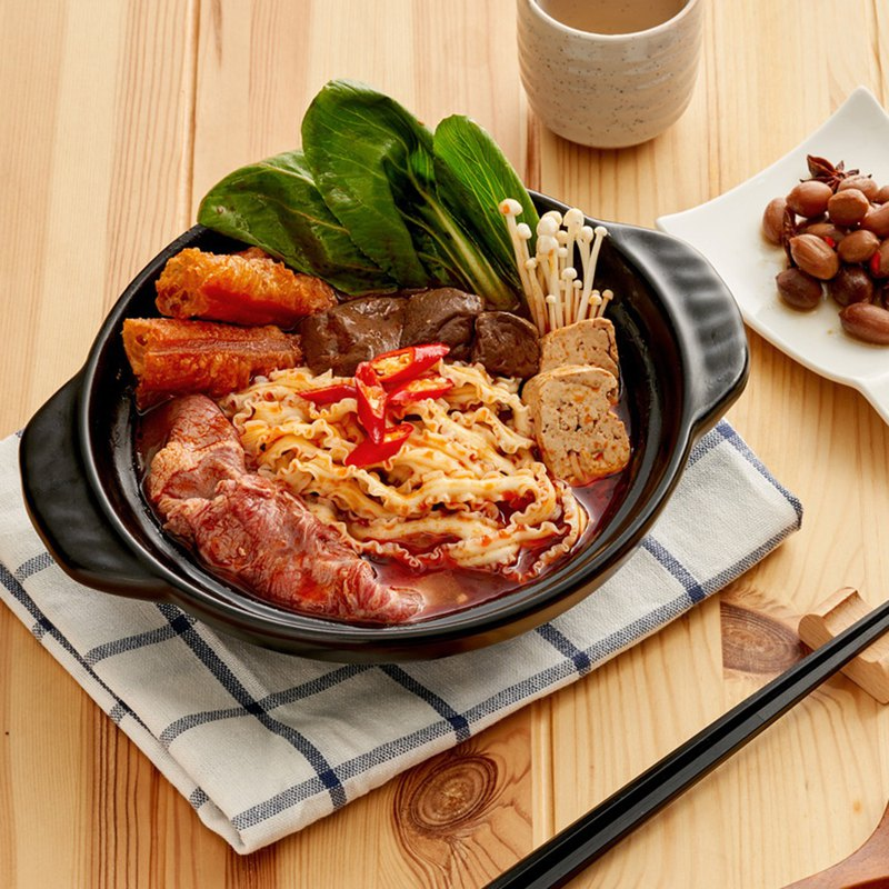 【老媽拌麵】台灣免運5盒(份)冬季限定麻辣火鍋湯麵-乾濕兩吃