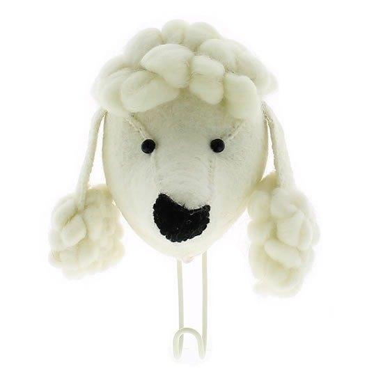 【Fiona Walker England】英國童話風格動物頭 純手工壁飾 - 貴賓狗掛勾(Big Single Head Hook Poodle)