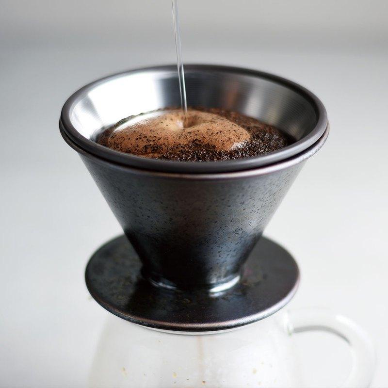 日本KINTO SCS鑄職人陶瓷濾杯2杯 / 4杯 / 金屬黑