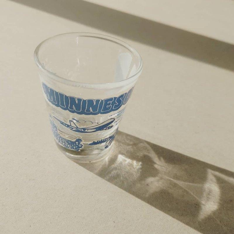 美國老物  美國明尼蘇達州著名地標景物印花shot杯