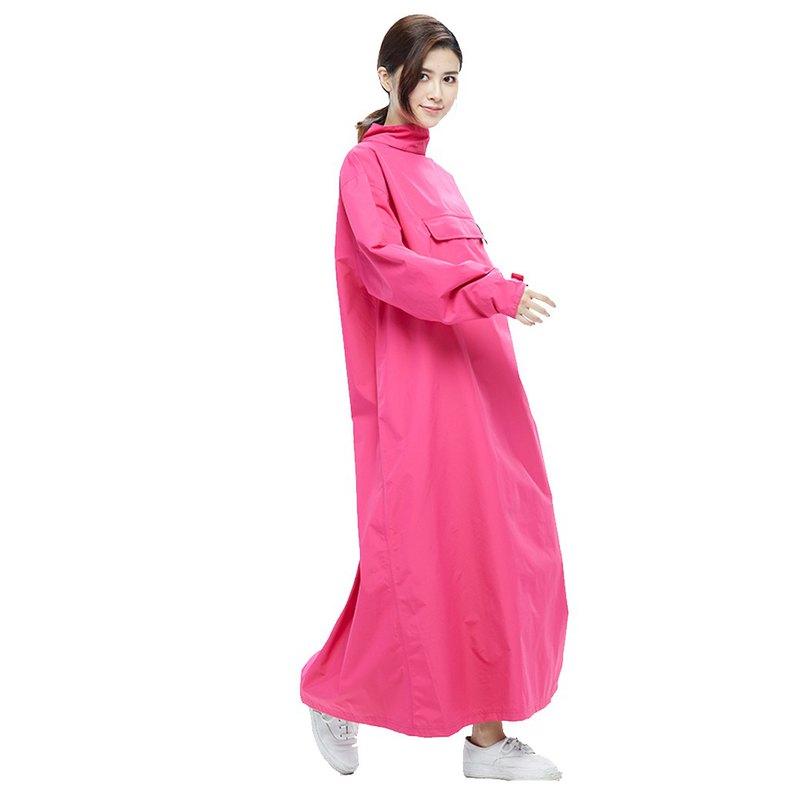 【MORR】PostPosi 環保反穿雨衣-經典桃紅