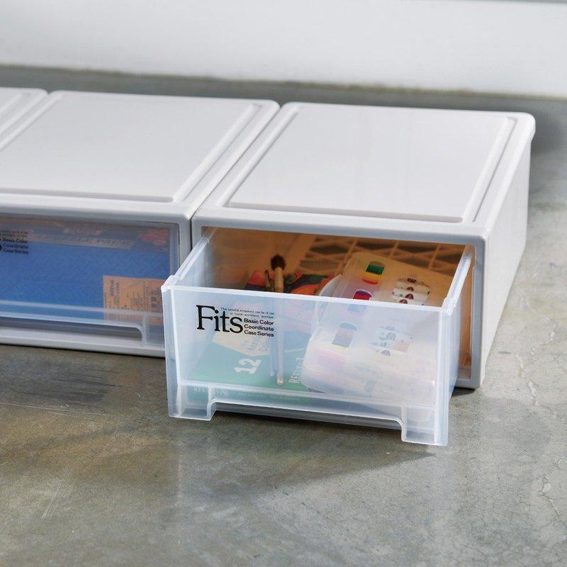 日本天馬 Fits隨選系列22.4寬單層抽屜收納箱 3入