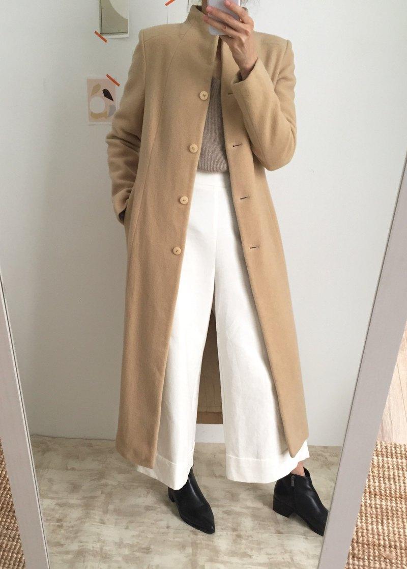 Almond Coat 米駝色合身羊毛長大衣 可訂做其他顏色