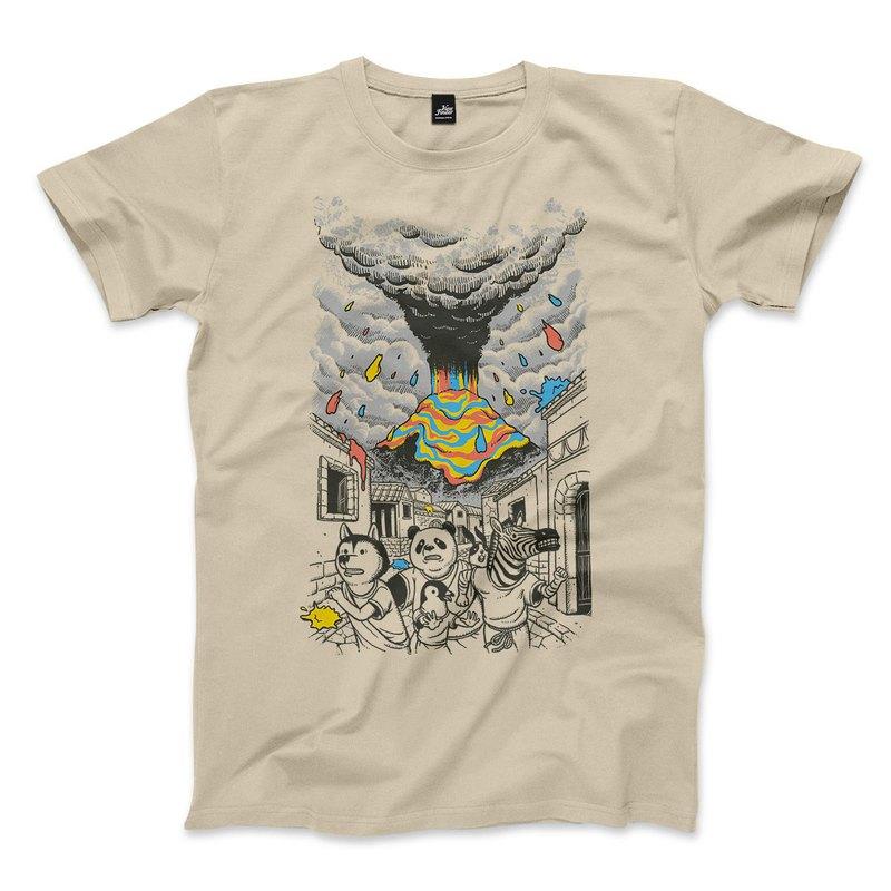 逃色風波 - 卡其 - 中性版T恤