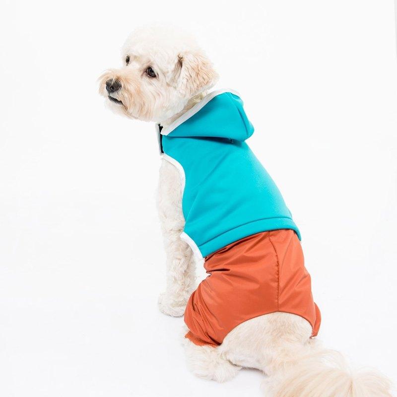 胸背衣拉繩組 瑜珈時光 土耳其藍上衣搭磚橘防水褲 XS  (S/M完售)
