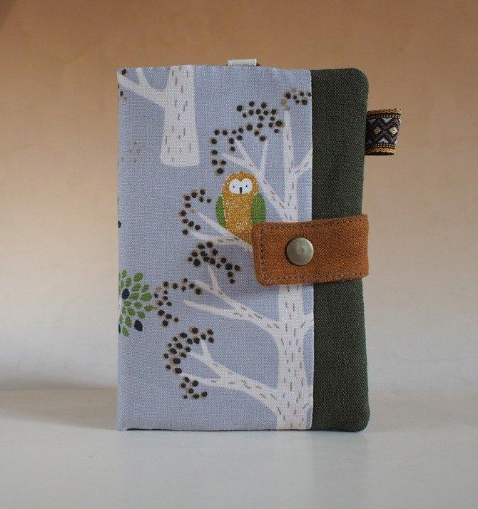 多功能護照夾/長布夾*森林裡的貓頭鷹*