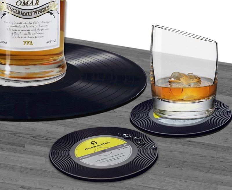 音樂組合包699 黑膠唱片桌墊 + 杯墊x2入組