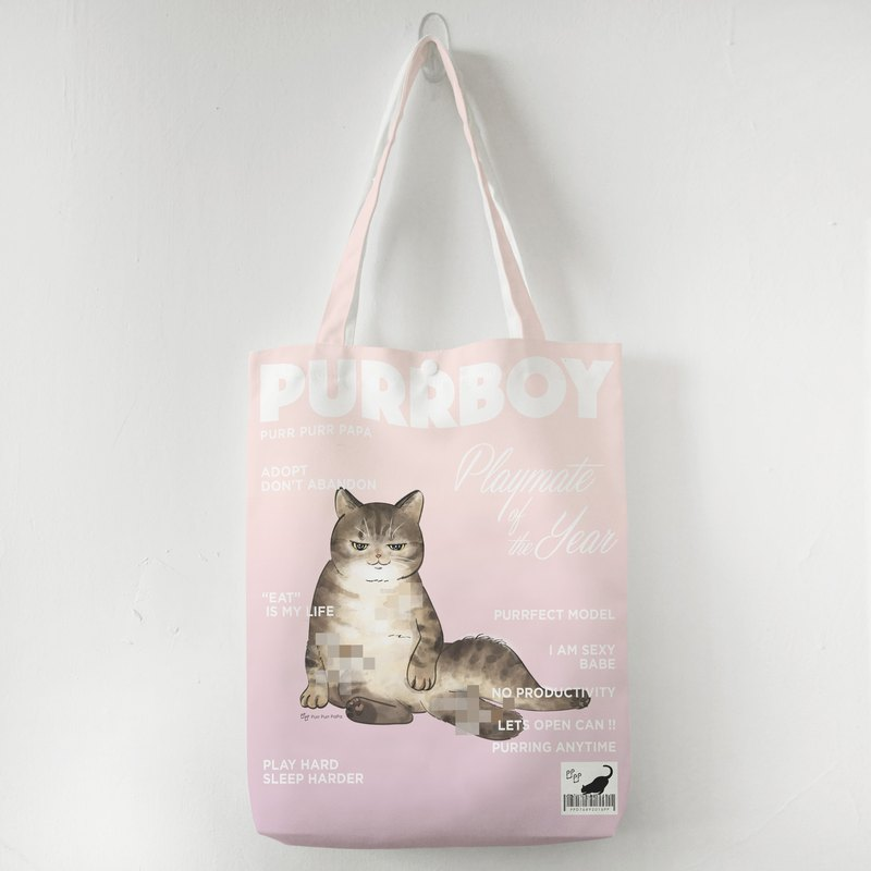 【花樣毛孩】虎紋貓 貓咪封面 毛特兒 購物袋 帆布袋 托特包