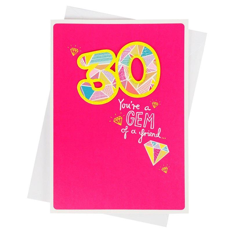 閃耀的30歲生日【Hallmark-卡片 生日祝福】
