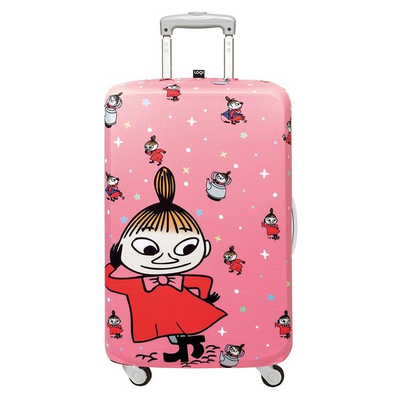 LOQI 行李箱外套/Moomin 小不點粉紅【L號】