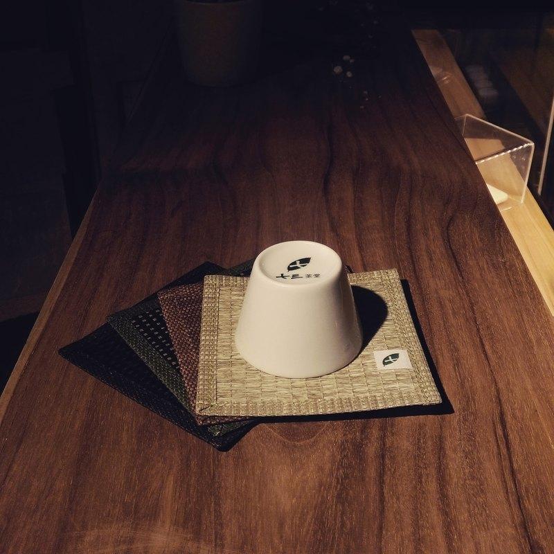 【紙喝茶杯墊】白茶色x4個
