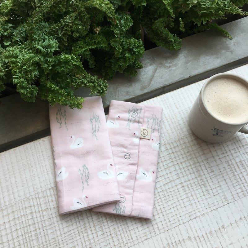 韓國製純棉 天鵝湖 背巾用口水巾