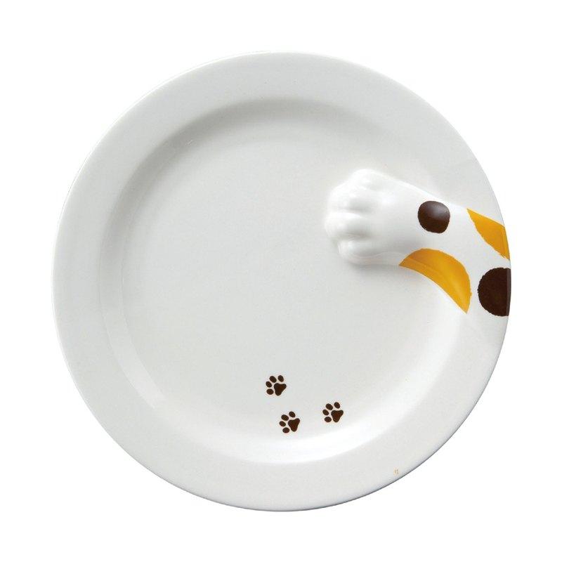 日本 sunart 餐盤 - 三花貓偷食