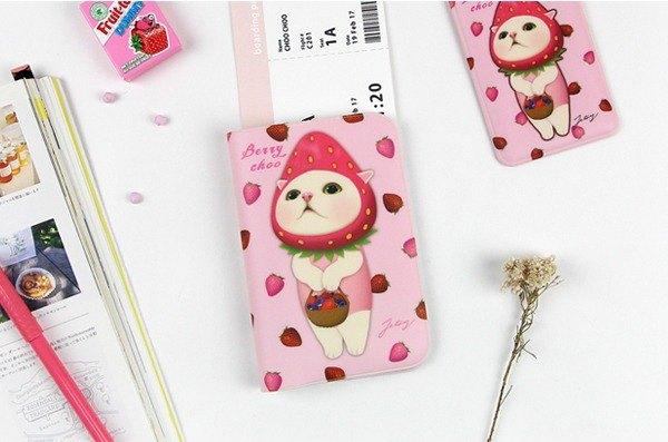 JETOY,甜蜜貓 嬌小護照套 三代_Berry choo J1712201