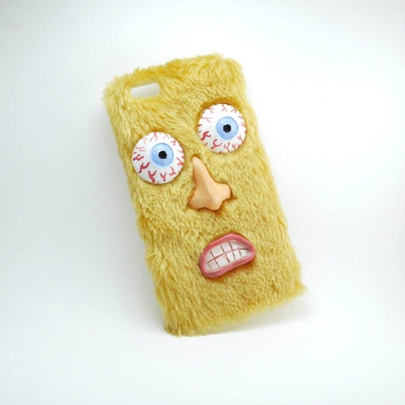 毛絨絨手機殼-黃色嚇死寶寶了