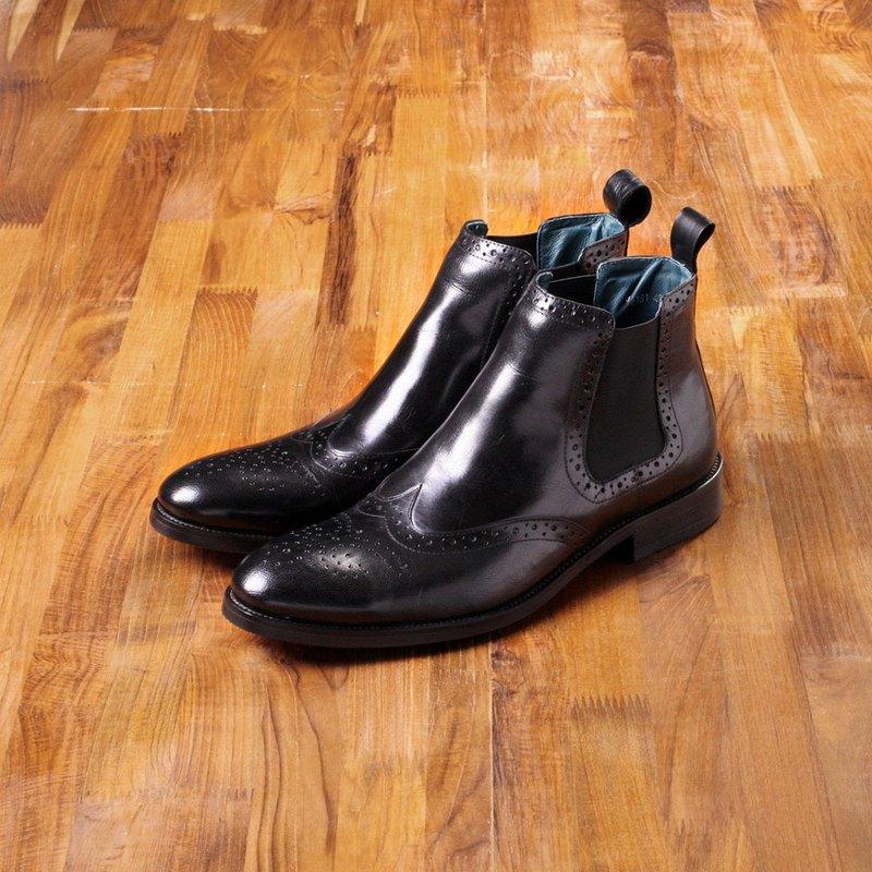 Vanger 優雅美型‧紳士經典卻爾西靴 Va181經典黑