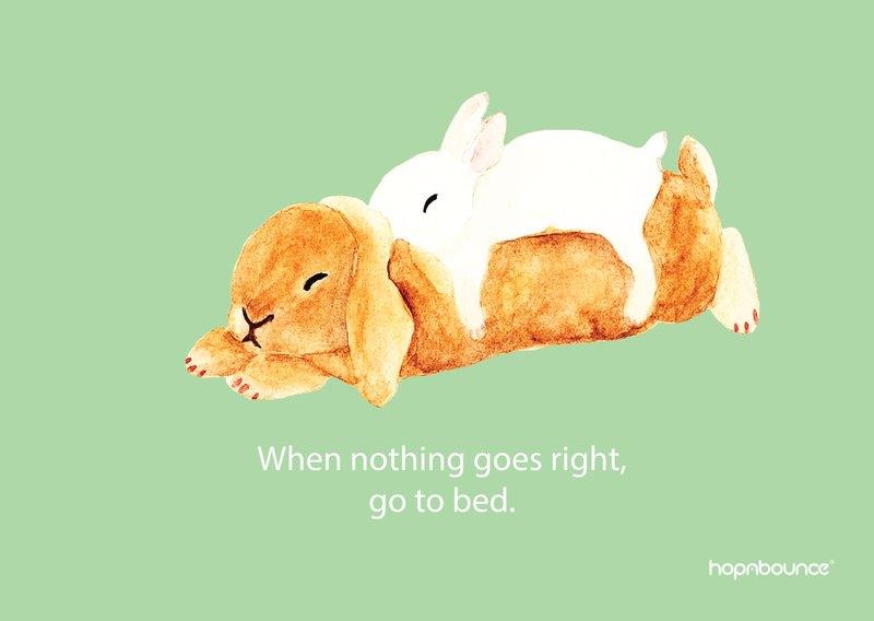 兔子 水彩 手繪 插畫 複製畫 海報