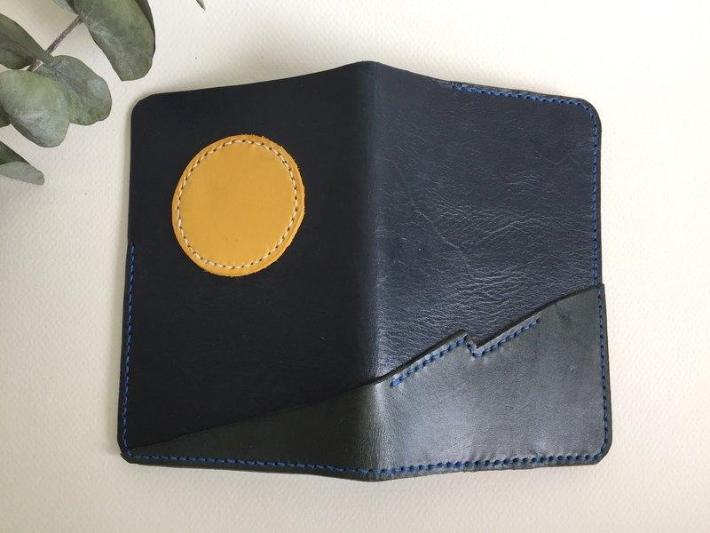 月光海護照夾_皮革手工縫製Handcraft Passport Holder