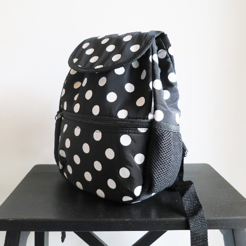 TiDi 可愛點點風衣布輕量背包(S款)