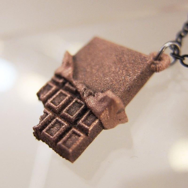 Chocolate Bar 巧克力 墜子 配 金屬項鍊
