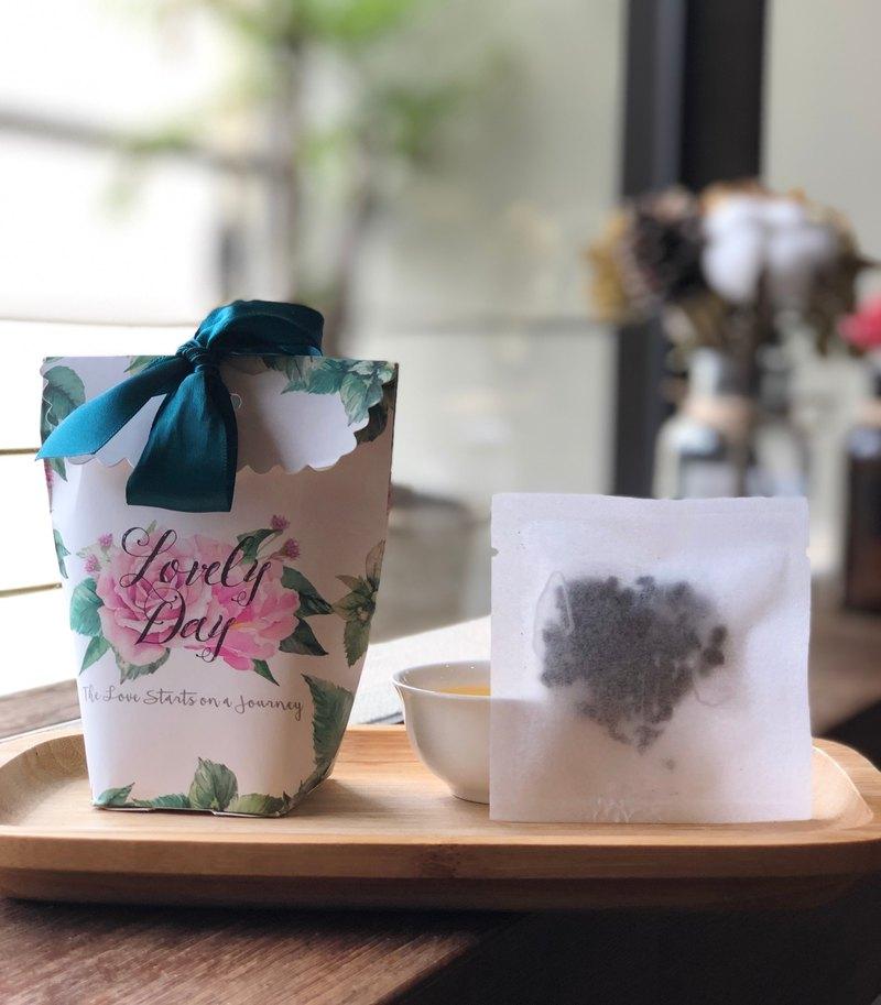 湖水綠緞帶花園/原葉三角茶包