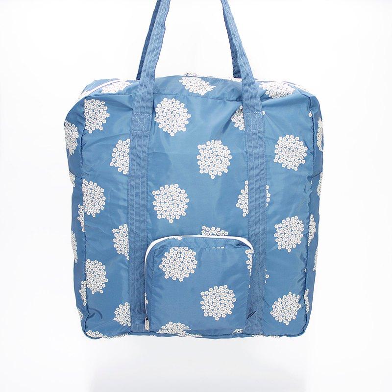 Ra 超輕防水環保花花可摺合手提包/購物袋 (藍色Blossom)