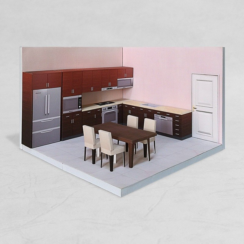 紙模型 - Kitchen #001 - DIY dollhouse paper model