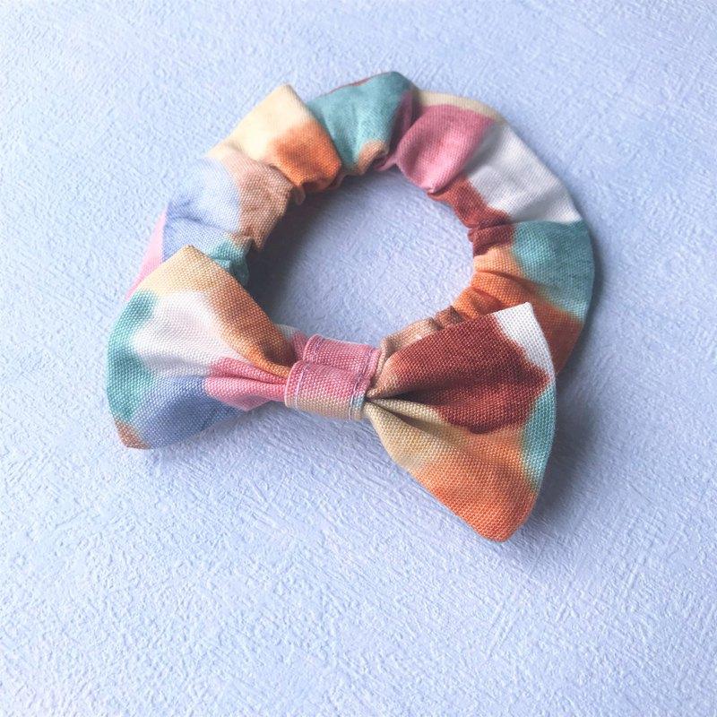 蝴蝶結鬆緊項圈 寵物領結 bow tie -- 彩色毛球_奶茶咖