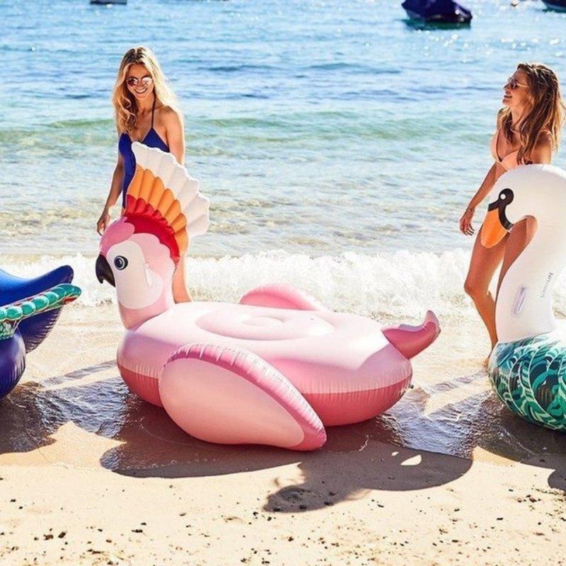 【新年禮物】SUNNYLIFE 鸚鵡造型坐騎泳圈