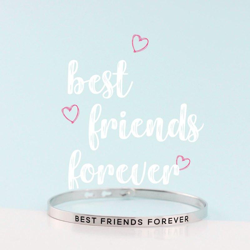 最好的朋友永遠手鐲|白金電鍍