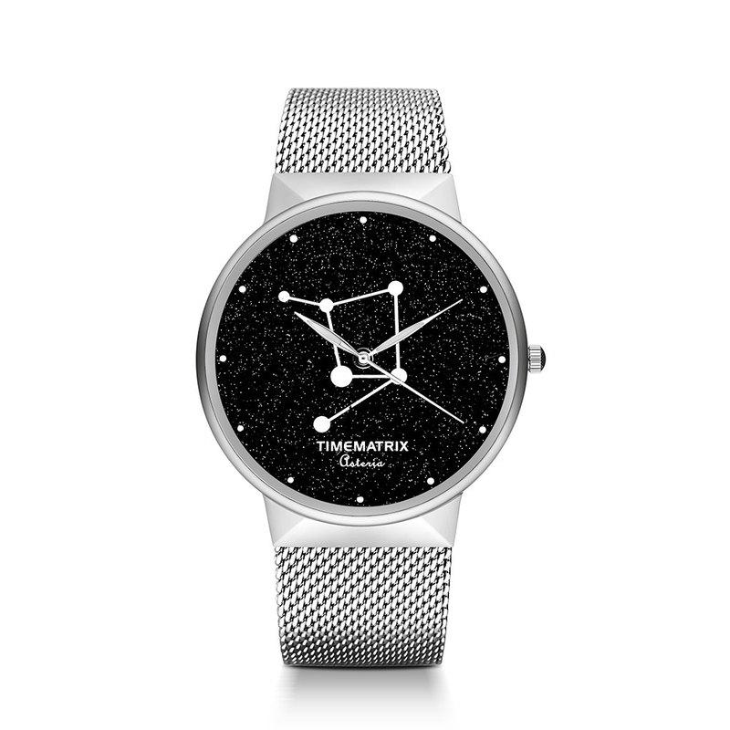 【丹麥星彩寶石】天秤座 Time Matrix 星座創意時尚男女石英手錶