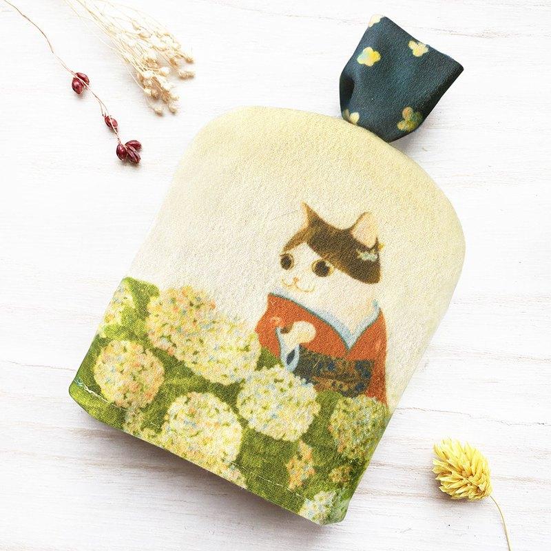 貓咪浮世繪-繡球/鑰匙收納包