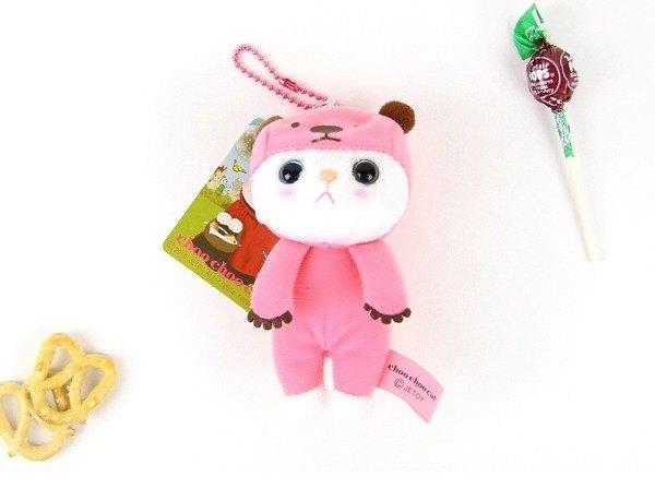 Jetoy,甜蜜貓 Q版 娃娃(12cm)_Pink bear J1701102