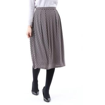 TRANS WORK *Marisol掲載*【XSサイズ~】【UV対策】【吸水速乾】【接触冷感】【ウォッシャブル】エアファインスムースプリントスカート その他 スカート,ベージュ