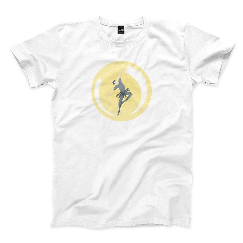 戰車 - 白 - 中性版T恤