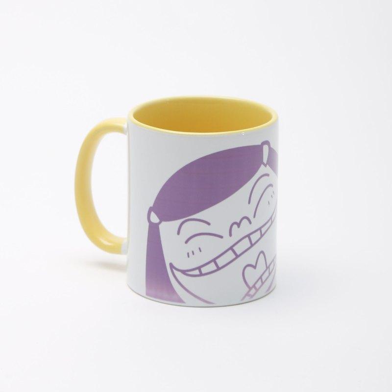 Noo Hin 玻璃,黃紫色