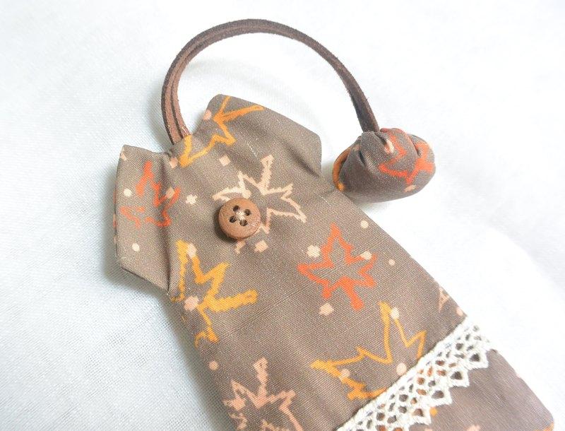 手感洋裝鑰匙包 - 秋楓