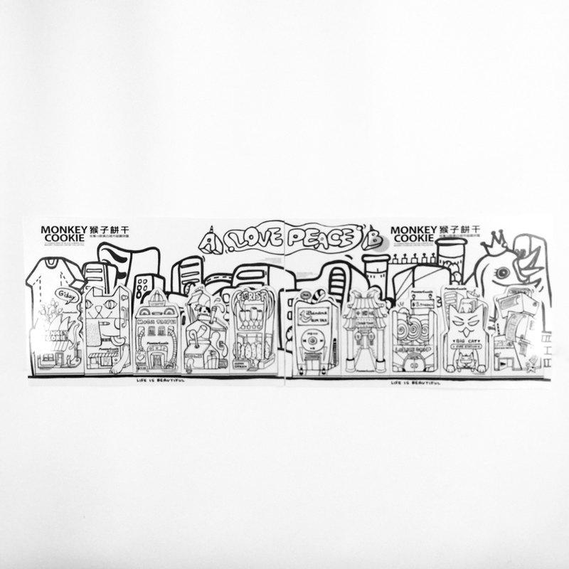 磁鐵城市系列- 10款房屋造型| 送明信片 | MonkeyCookie